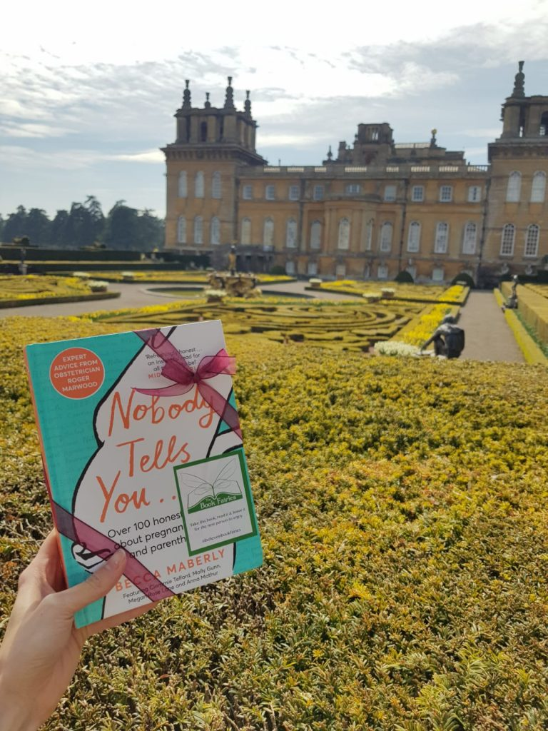 At Blenheim Palace Book Fairies hide new book Nobody Tells You by Becca Maberly