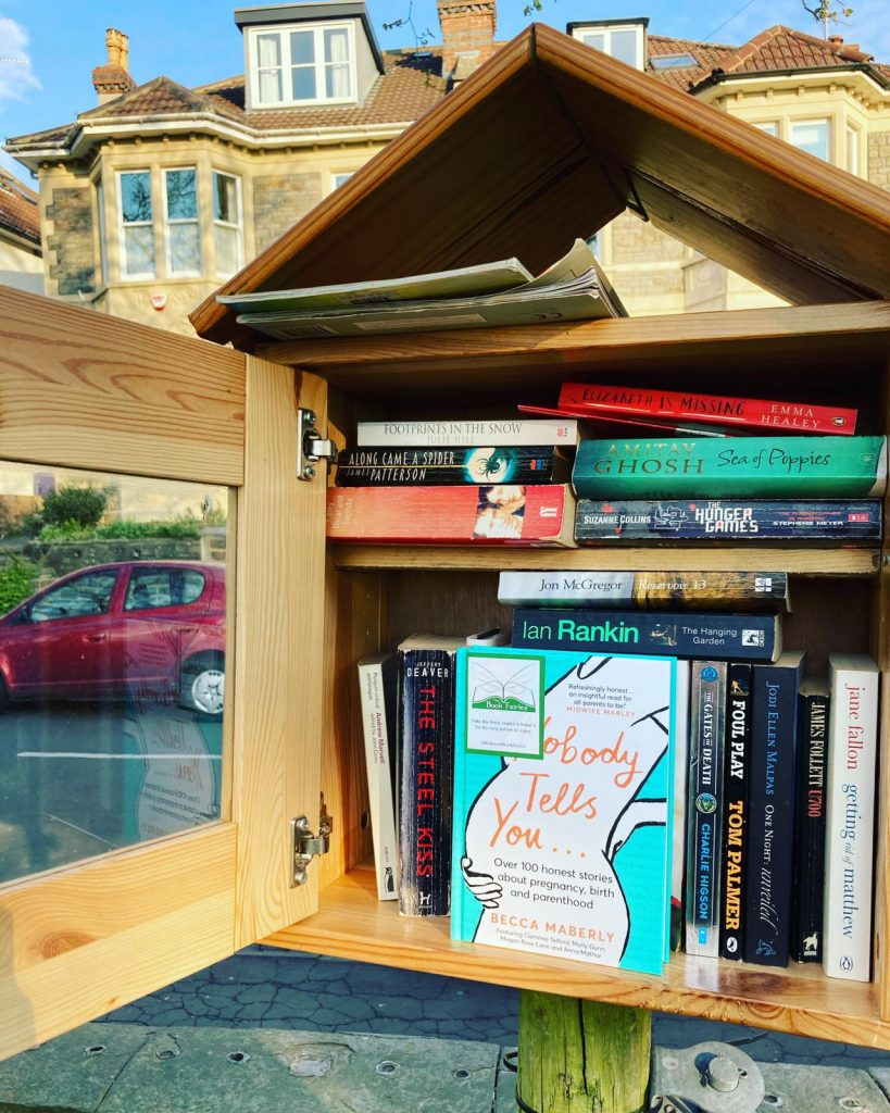 At a little free library - Book Fairies hide new book Nobody Tells You by Becca Maberly