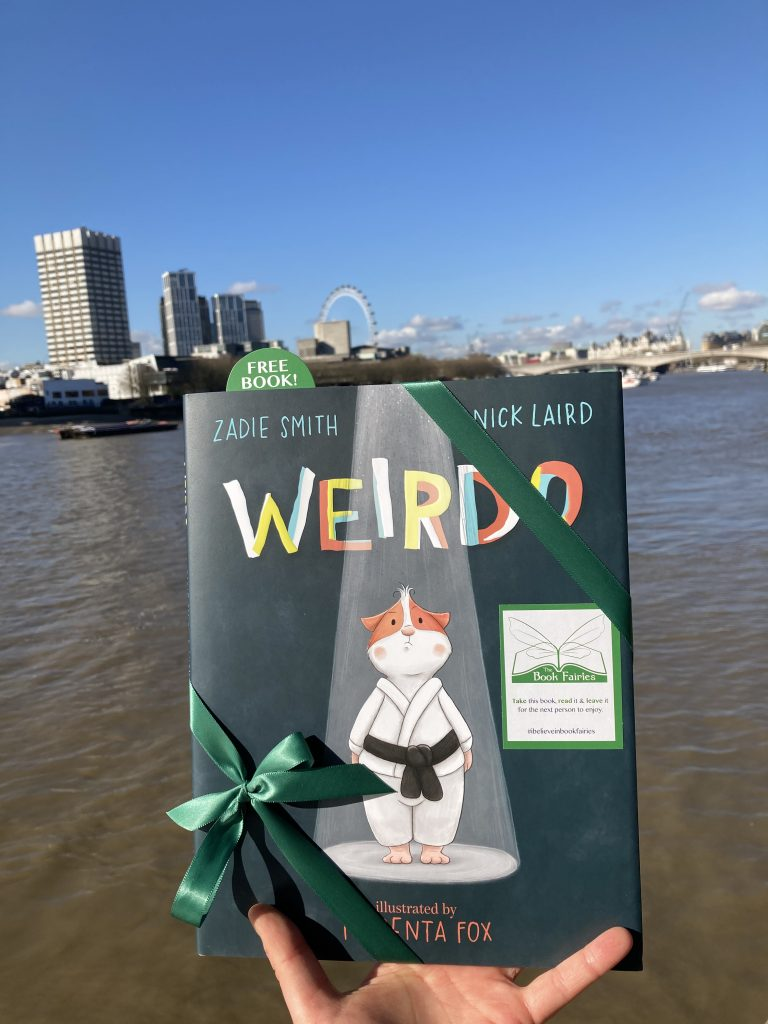 London Thames - Book fairies hide Zadie Smith's first children's book Weirdo around the UK
