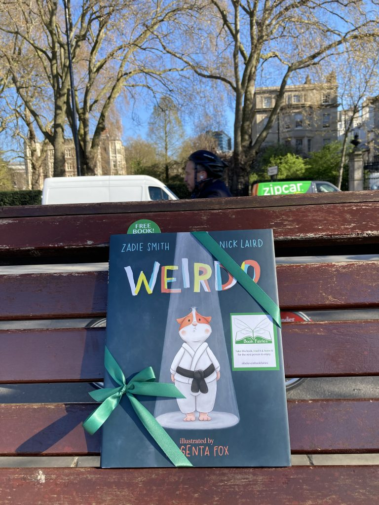 A bench along the Thames - Book fairies hide Zadie Smith's first children's book Weirdo around the UK