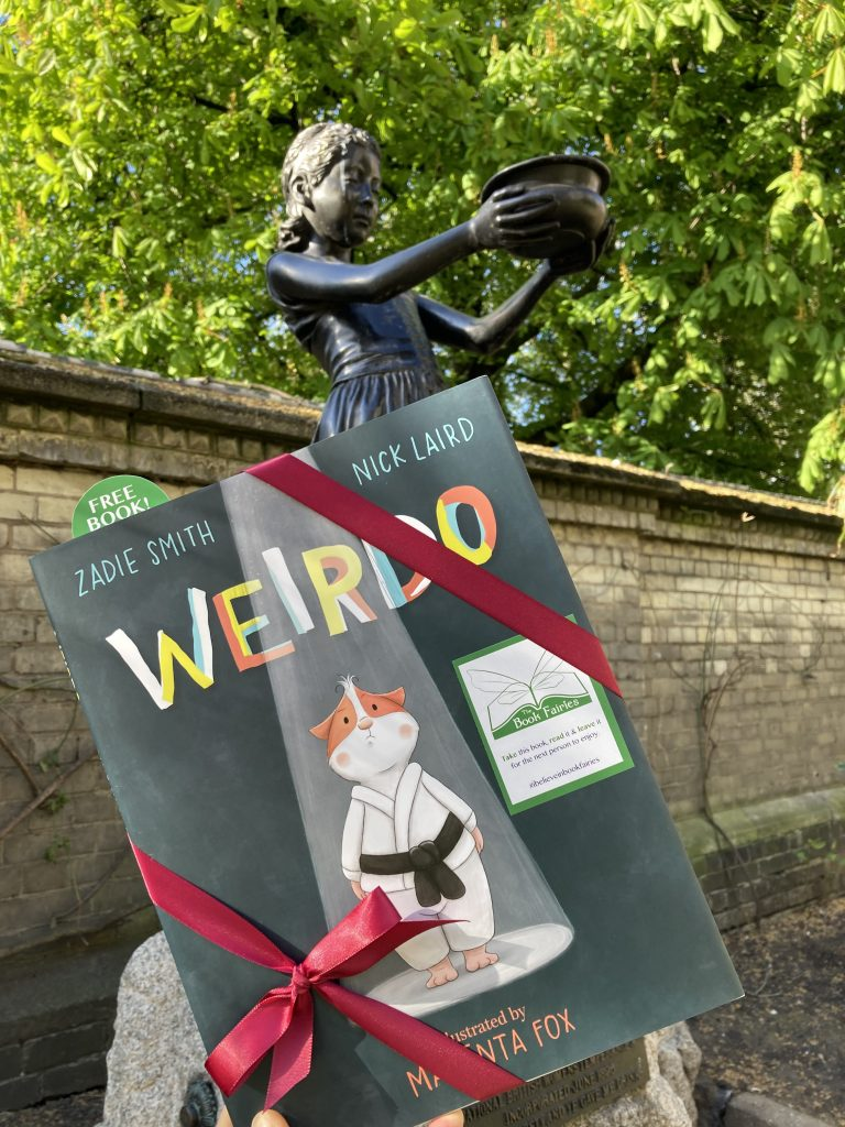 London statue - Book fairies hide Zadie Smith's first children's book Weirdo around the UK