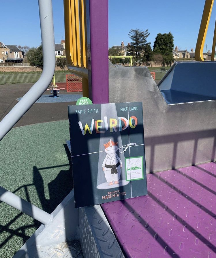 A playground in South Shields - Book fairies hide Zadie Smith's first children's book Weirdo around the UK