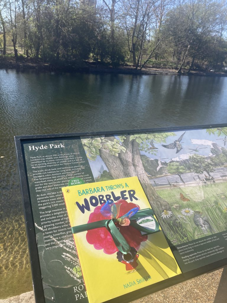 Hyde Park London - Book Fairies hide Barbara Throws A Wobbler from Puffin Books