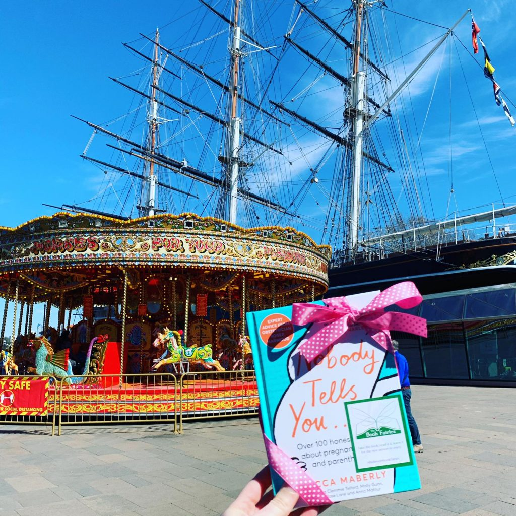 Hiding in Greenwich - Book Fairies hide new book Nobody Tells You by Becca Maberly