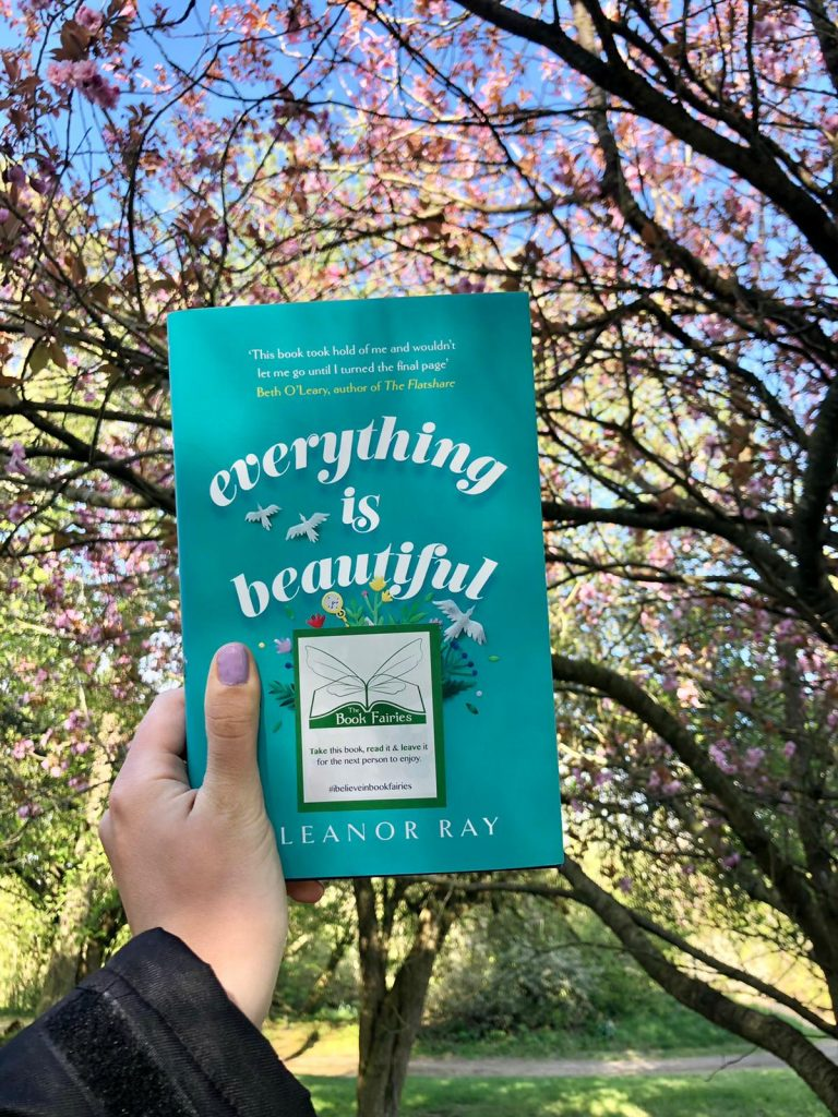 In London - Book Fairies hide copies of Everything is Beautiful by Eleanor Ray