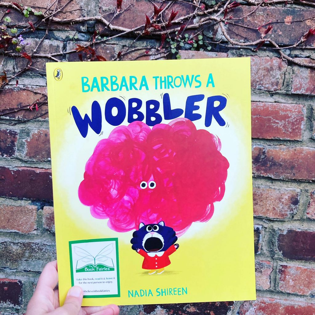 Hidden by a brick wall - Book Fairies hide Barbara Throws A Wobbler from Puffin Books