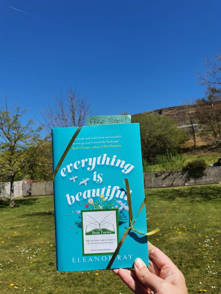 In Wales - Book Fairies hide copies of Everything is Beautiful by Eleanor Ray