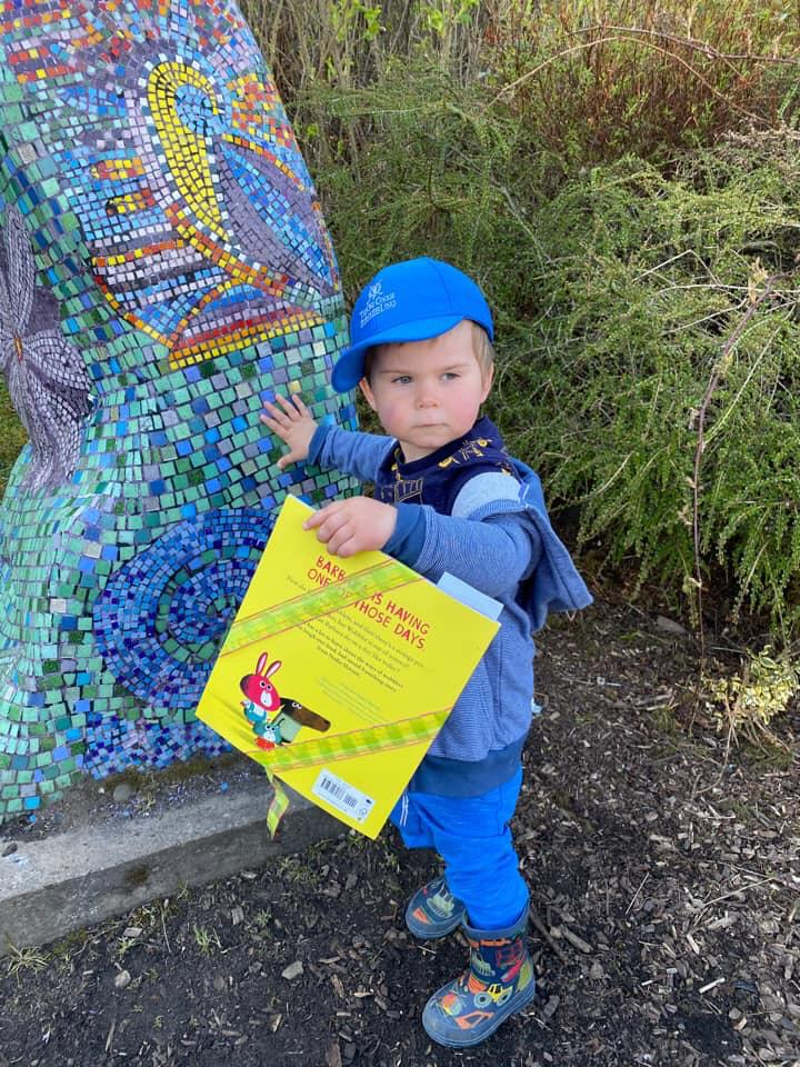 A little boy found a book - Book Fairies hide Barbara Throws A Wobbler from Puffin Books
