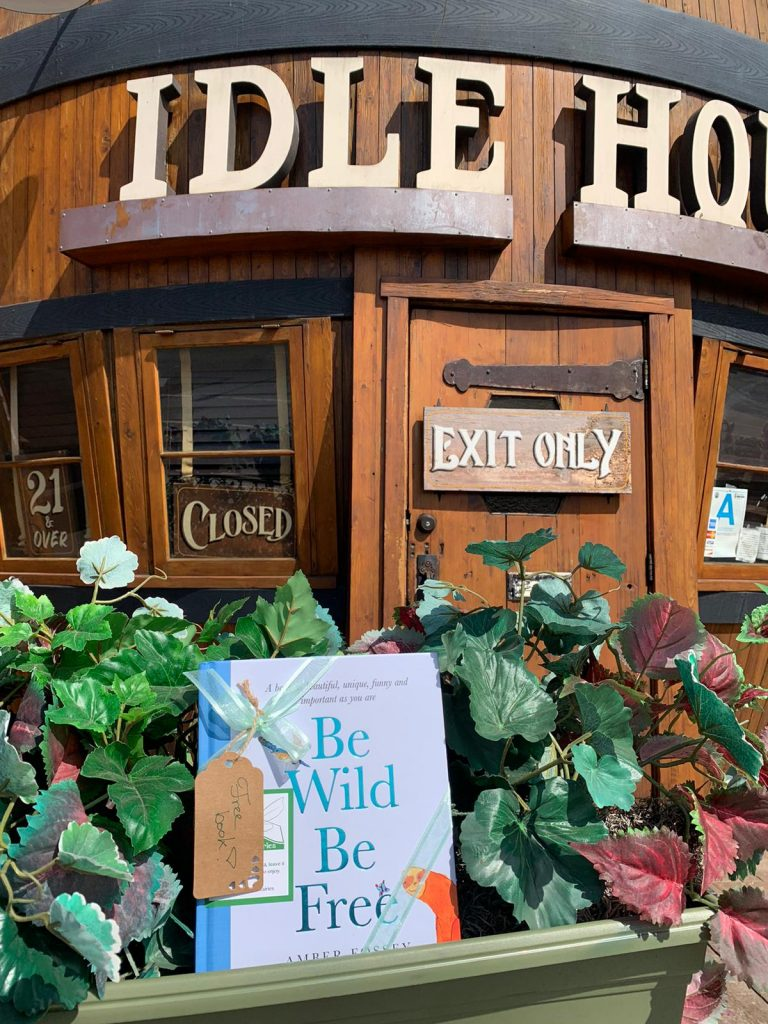At Idle Home in North Hollywood - Book fairies around the states hide Be Wild Be Free by Amber Fossey