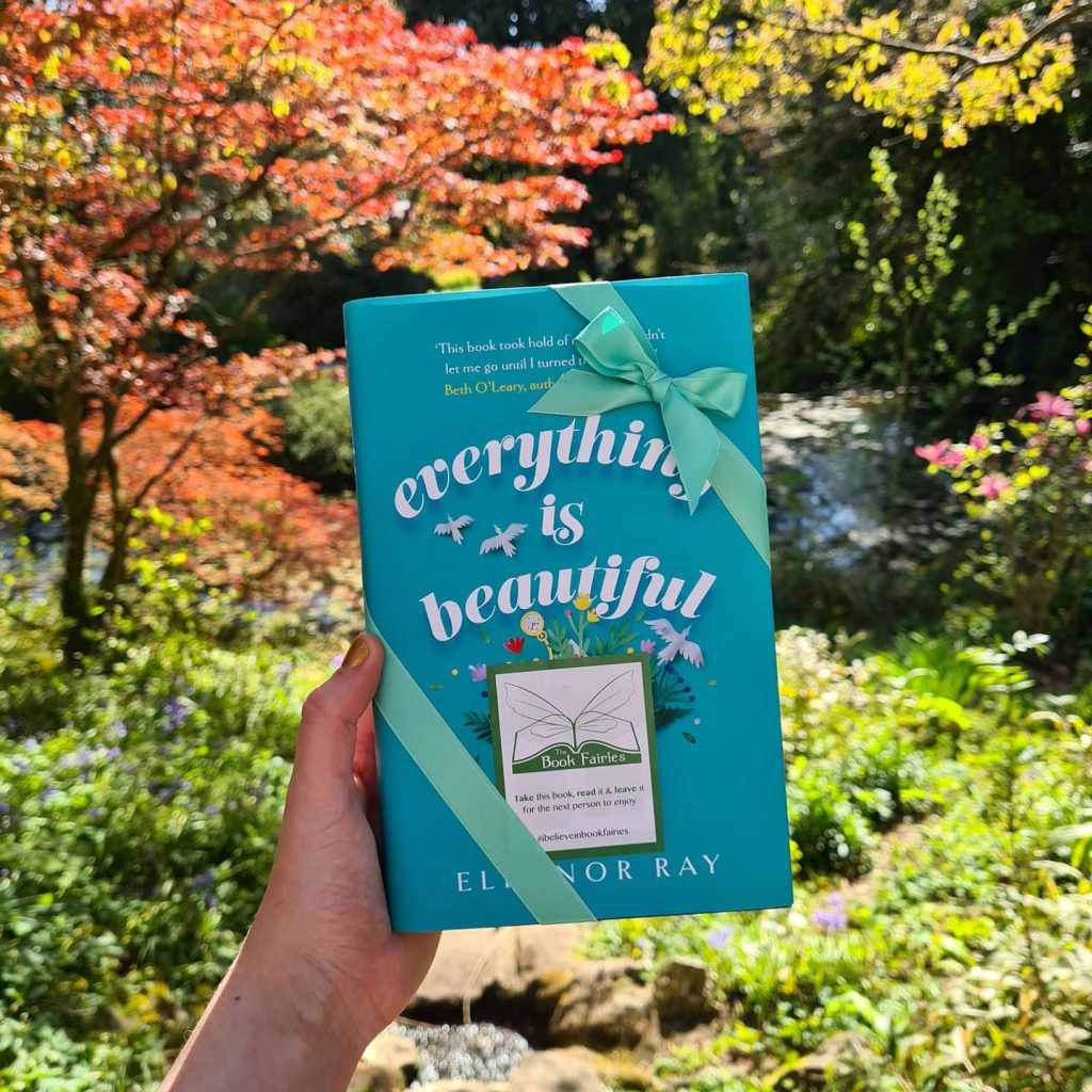 In Bath UK - Book Fairies hide copies of Everything is Beautiful by Eleanor Ray