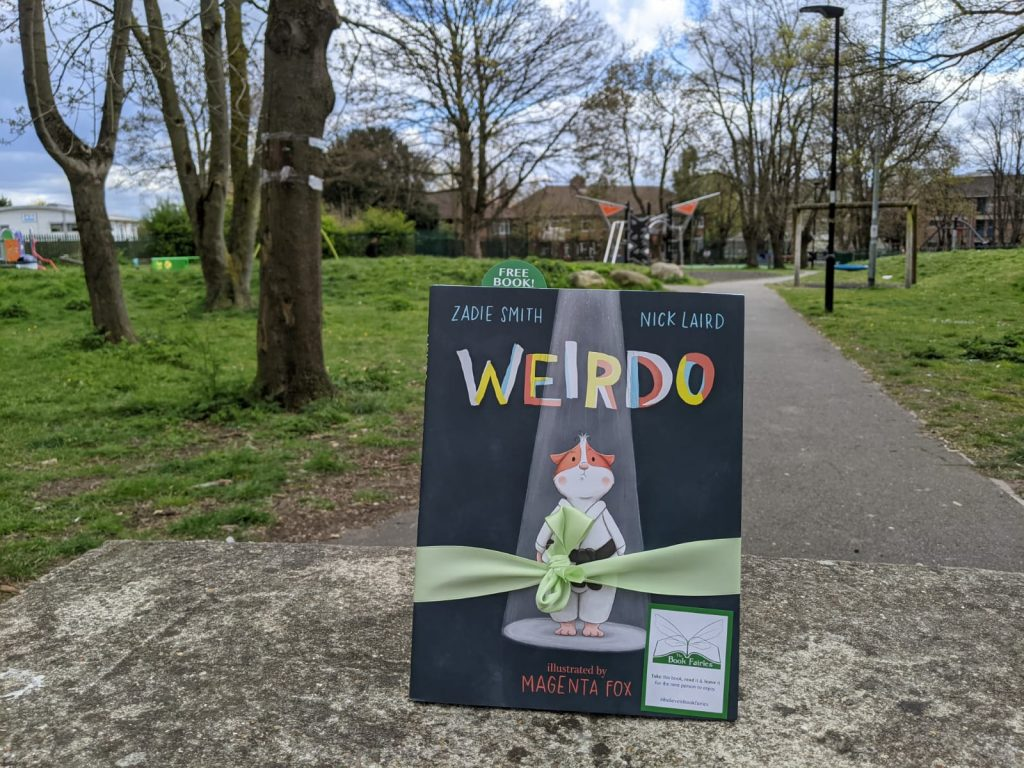 In a playground in London - Book fairies hide Zadie Smith's first children's book Weirdo around the UK