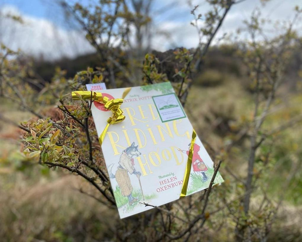 Hiding in the Outer Hebrides - Book Fairies hide copies of Red Riding Hood by Beatrix Potter and Helen Oxenbury