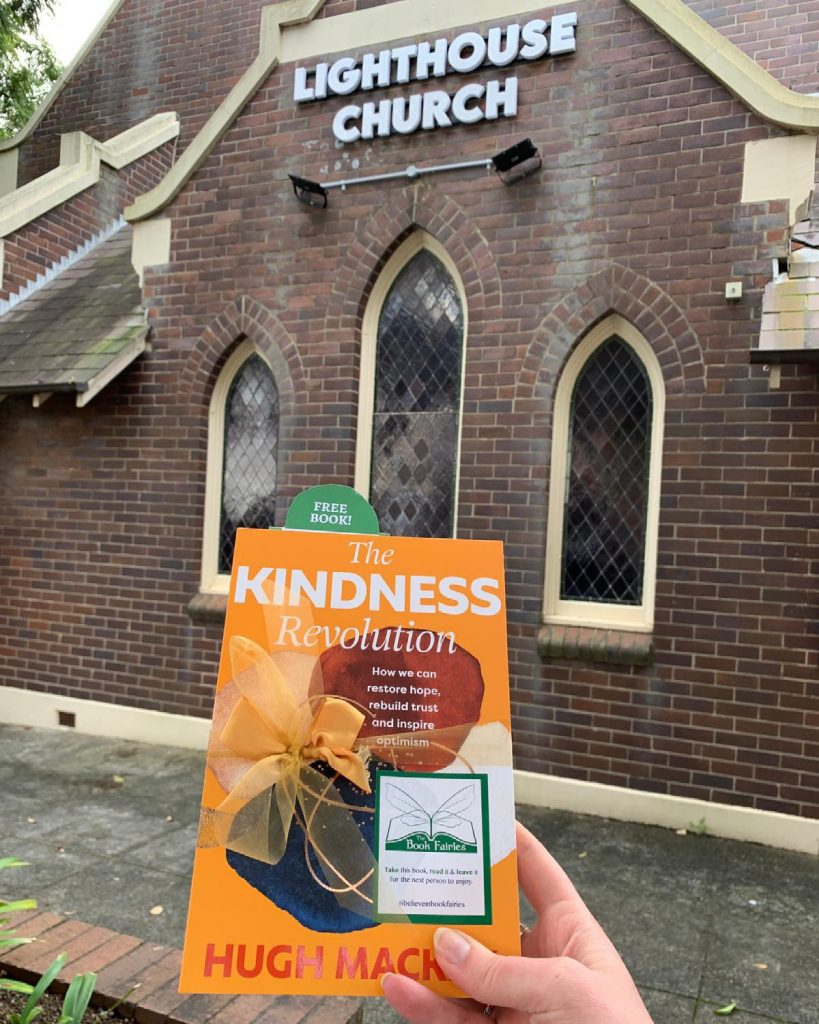 At Lighthouse Church - The Book Fairies in Australia hide copies of The Kindness Revolution