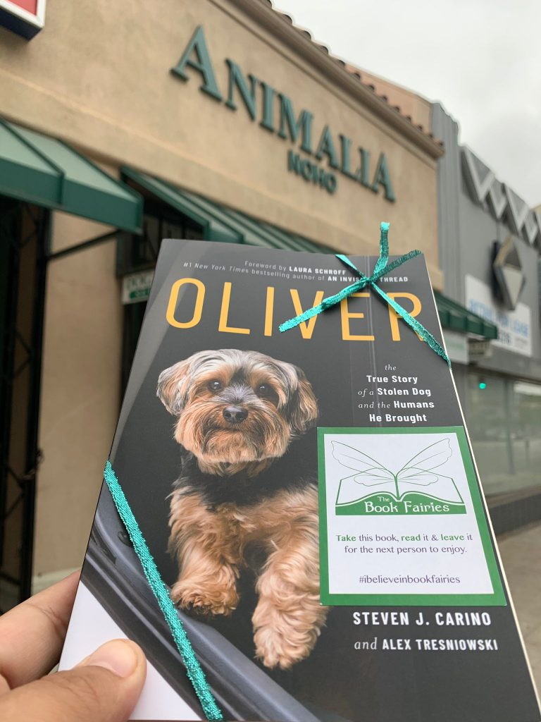 At Animalia = Book Fairies around the states hide copies of Oliver the dog