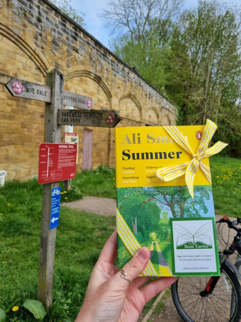 Book Fairies hide copies of Summer by Ali Smith on a walking trail
