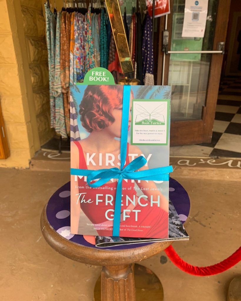 Book share - The Book Fairies in Australia hide copies of The French Gift by Kirsty Manning