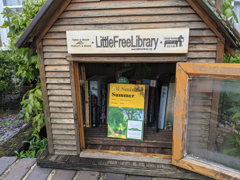 Book Fairies hide copies of Summer by Ali Smith in a Little Free Library in London