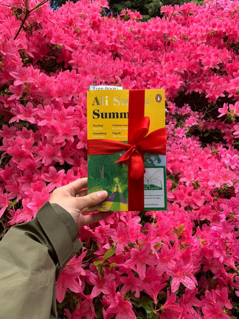 Book Fairies hide copies of Summer by Ali Smith in Richmond Park