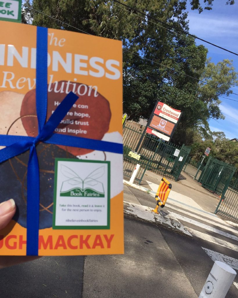 Hiding outside in QLD - The Book Fairies in Australia hide copies of The Kindness Revolution