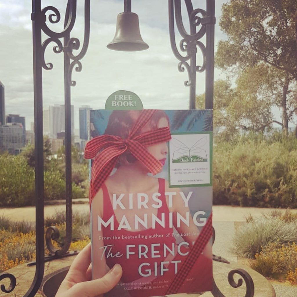 Hiding in Perth - The Book Fairies in Australia hide copies of The French Gift by Kirsty Manning