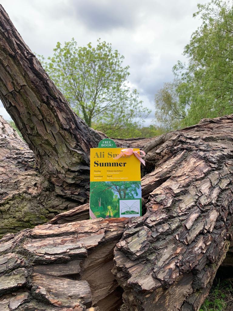 Book Fairies hide copies of Summer by Ali Smith on Hampstead Heath