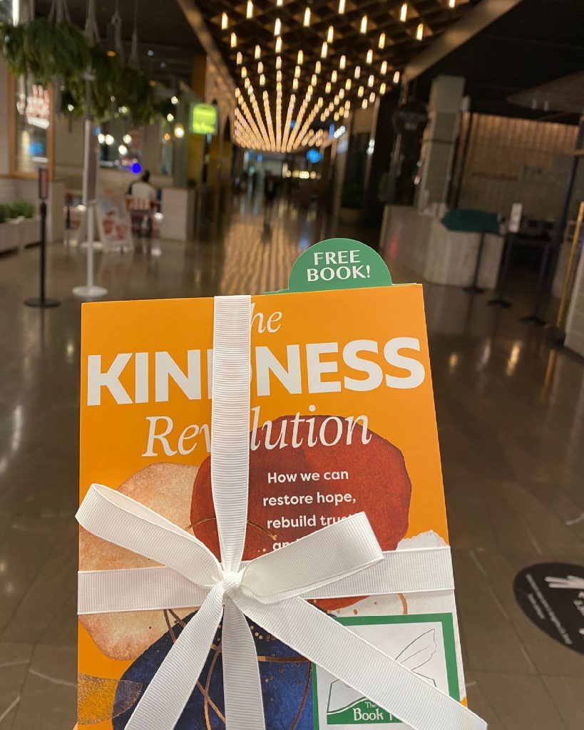 In Canberra - The Book Fairies in Australia hide copies of The Kindness Revolution