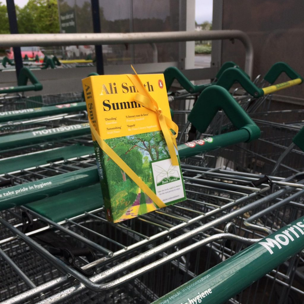 Book Fairies hide copies of Summer by Ali Smith at a supermarket