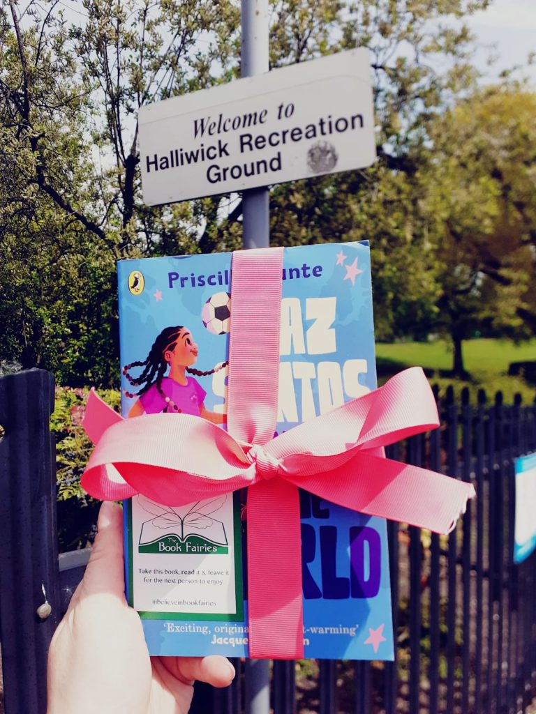 Book Fairies leave copies of Jaz Santos vs The World on paperback release day - at Halliwick Recreation Ground
