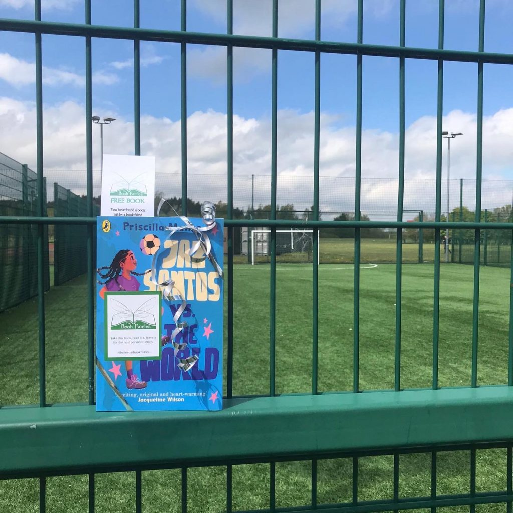 Book Fairies leave copies of Jaz Santos vs The World on paperback release day - at a local football ground