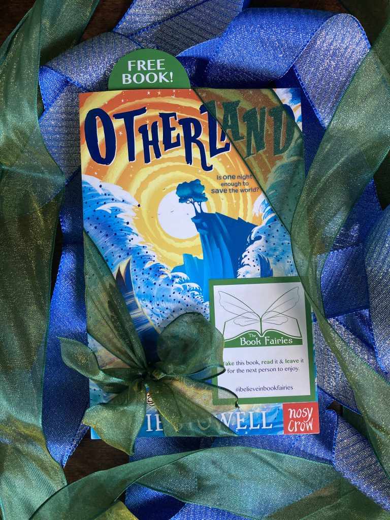 The front cover - Otherland by Louie Stowell hidden by The Book Fairies in the UK