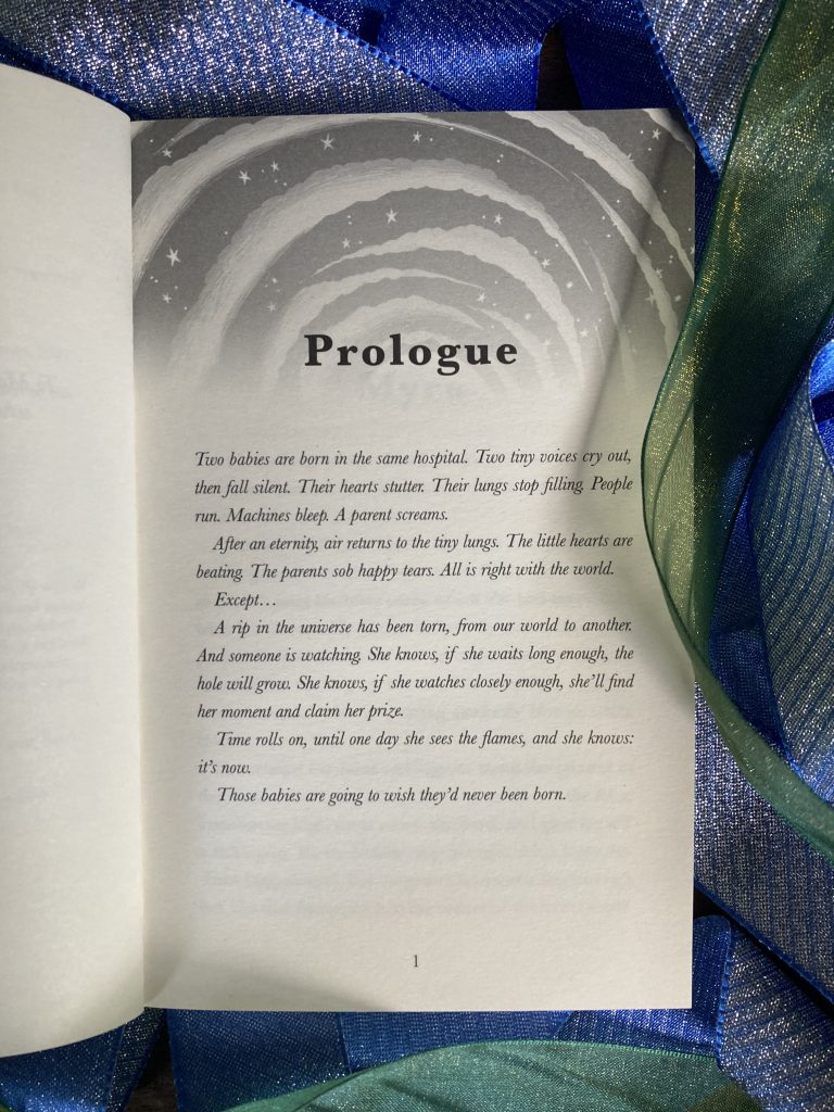 The first page - Otherland by Louie Stowell hidden by The Book Fairies in the UK