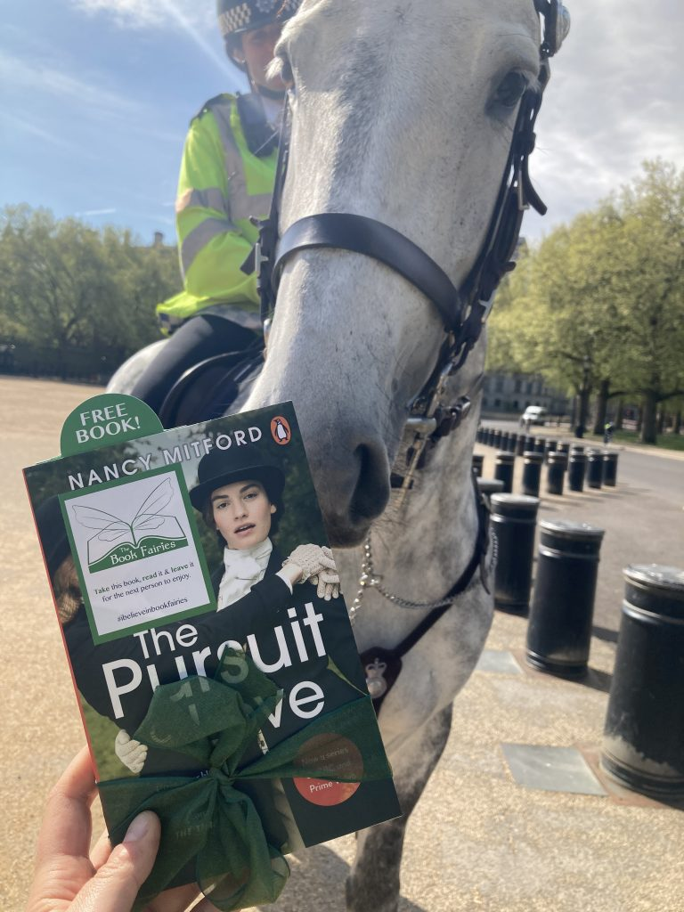 Police horse - Book Fairies hide copies of The Pursuit of Love for BBC drama