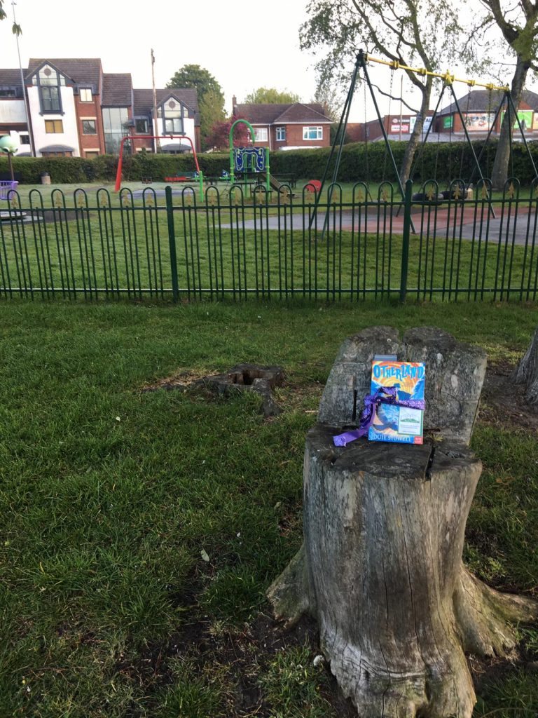 In a playground - Otherland by Louie Stowell hidden by The Book Fairies in the UK