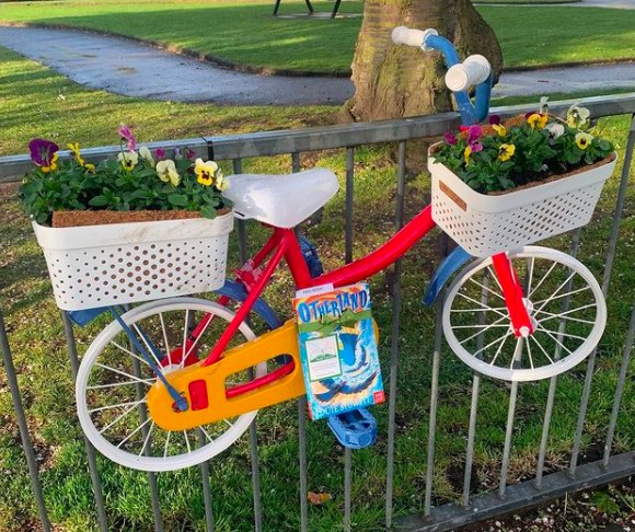 On a bike in Falkirk - Otherland by Louie Stowell hidden by The Book Fairies in the UK