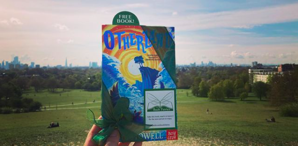 On top of Primrose Hill in London - Otherland by Louie Stowell hidden by The Book Fairies in the UK