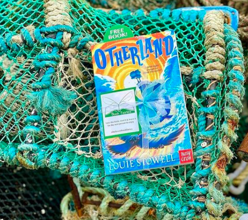 At a fishing port in Scotland - Otherland by Louie Stowell hidden by The Book Fairies in the UK