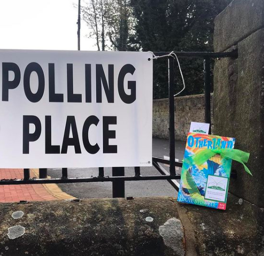 At a polling place in West Lothian - Otherland by Louie Stowell hidden by The Book Fairies in the UK