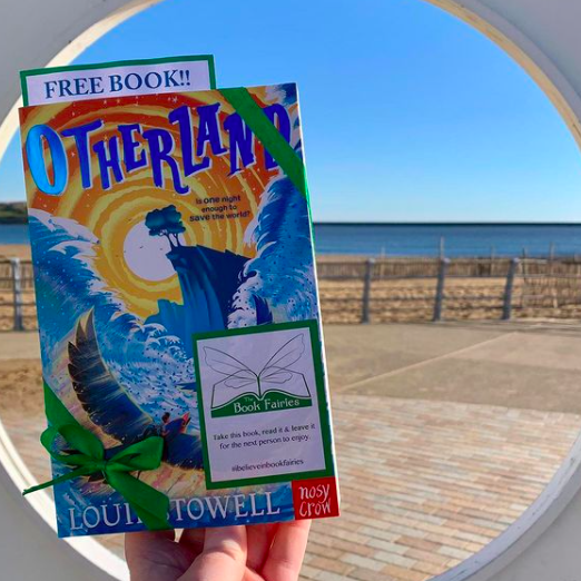 At a beach in South Shields - Otherland by Louie Stowell hidden by The Book Fairies in the UK