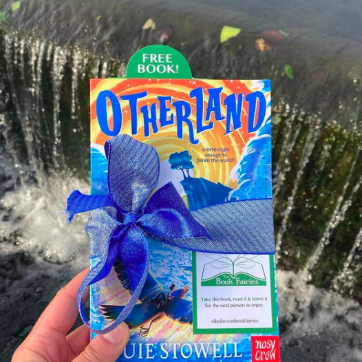 Hiding by a London lock - Otherland by Louie Stowell hidden by The Book Fairies in the UK
