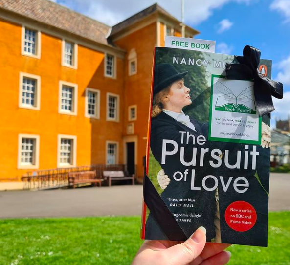 New book! Book Fairies hide copies of The Pursuit of Love for BBC drama