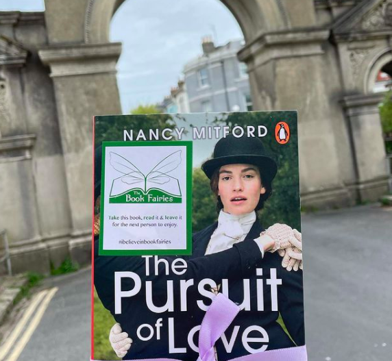 In Brighton - Book Fairies hide copies of The Pursuit of Love for BBC drama