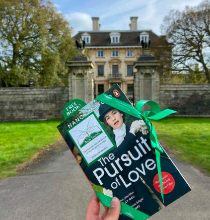 At a stately home - Book Fairies hide copies of The Pursuit of Love for BBC drama