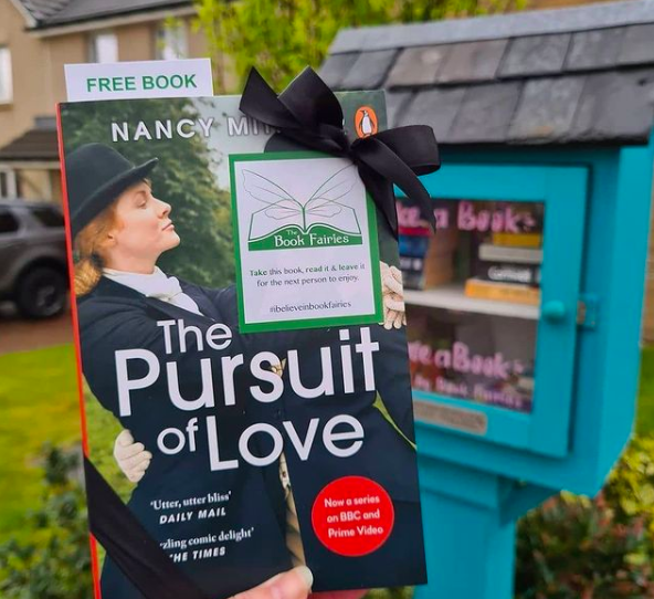 Book Fairies hide copies of The Pursuit of Love for BBC drama - at a little free library