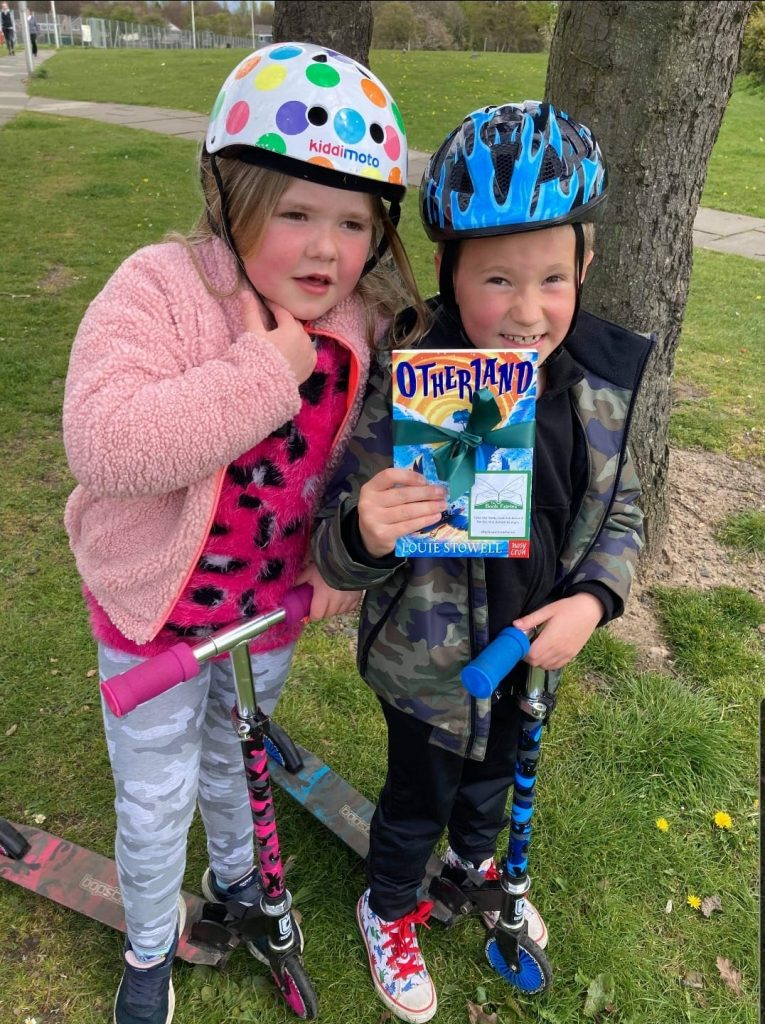 Happy book finders - Otherland by Louie Stowell hidden by The Book Fairies in the UK