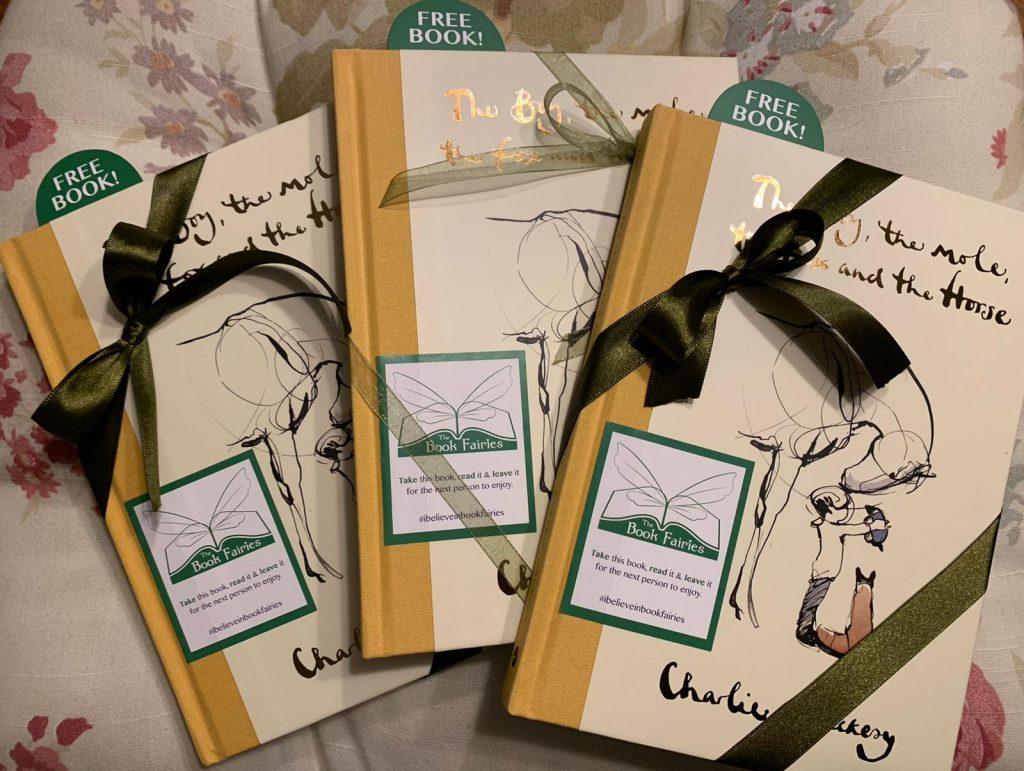 Book Fairies hide copies Charlie Mackesy The Boy The Mole The Fox and The Horse preparation