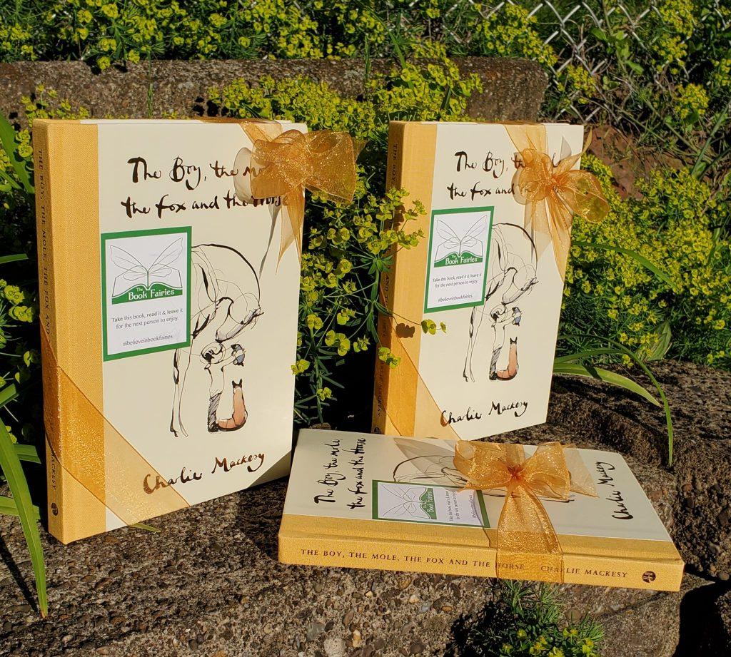 Beautiful books - Book Fairies hide copies Charlie Mackesy The Boy The Mole The Fox and The Horse