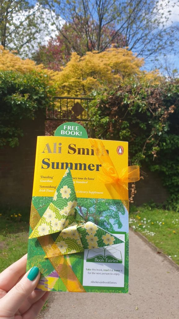Book Fairies hide copies of Summer by Ali Smith at a park