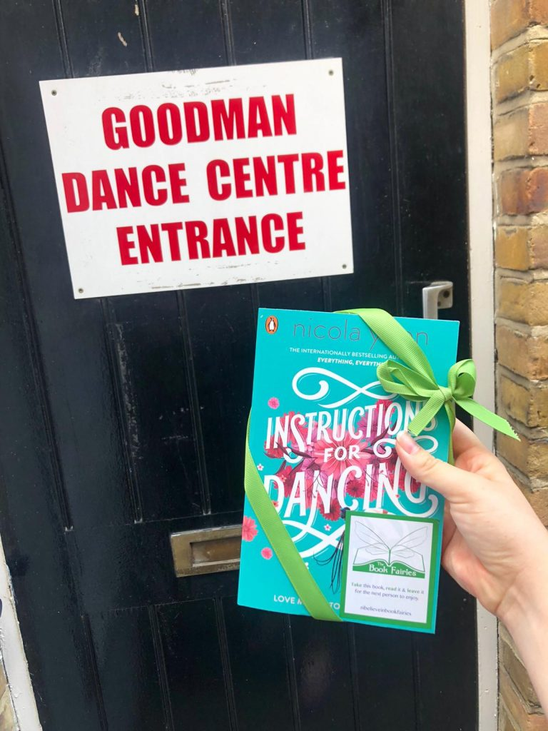 Nicola Yoon's new novel Instructions for Dancing hidden by The Book Fairies at Goodman Dance Centre