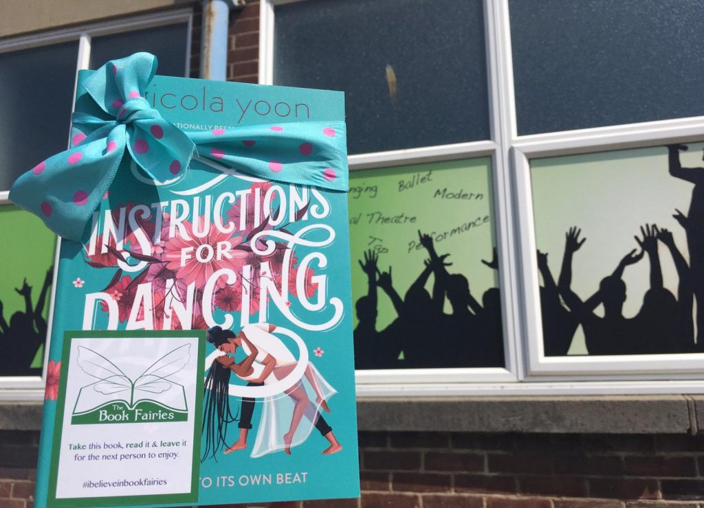 Nicola Yoon's new novel Instructions for Dancing hidden by The Book Fairies at a Dancing School