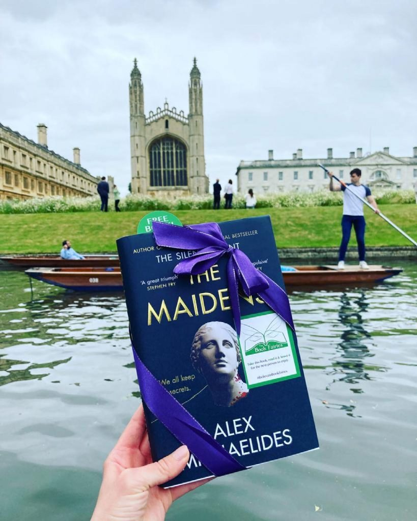 The Book Fairies work with Orion Books on The Maidens promotion on the river Cam